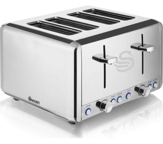 SWAN ST14064N 4-Slice Toaster - Stainless Steel, Stainless Steel