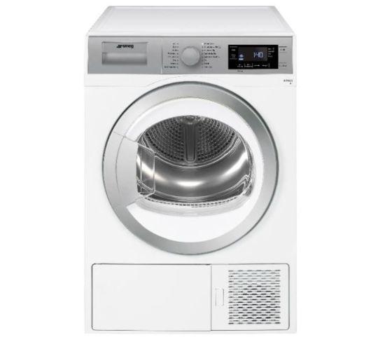SMEG DHT91LUK 9 kg Heat Pump Tumble Dryer - White, White