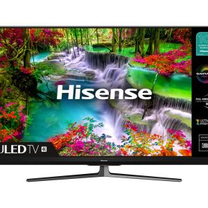 "55"" HISENSE 55U8QFTUK  Smart 4K Ultra HD HDR QLED TV with Amazon Alexa"