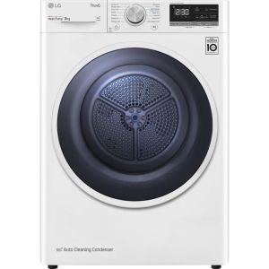 LG FDV309W WiFi-enabled 9 kg Heat Pump Tumble Dryer - White, White