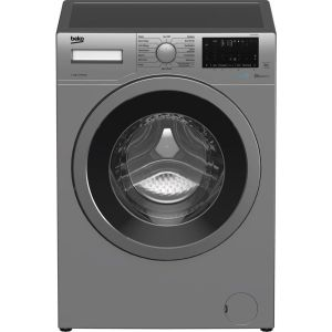 BEKO WEX740430S Bluetooth 7 kg 1400 Spin Washing Machine – Silver, Silver