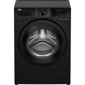 BEKO WEX840530B Bluetooth 8 kg 1400 Spin Washing Machine - Black, Black