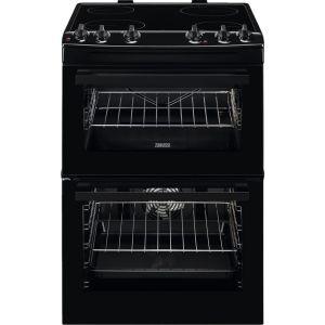 ZANUSSI ZCV66050BA 60 cm Electric Ceramic Cooker - Black, Black