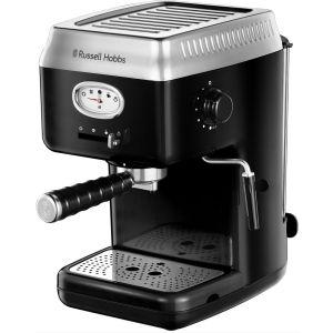 RUSSELL HOBBS Retro 28251 Espresso Coffee Machine - Black, Black