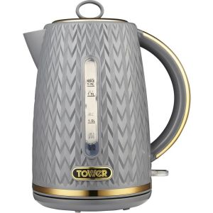 TOWER Empire Collection T10052GRY Jug Kettle - Textured Grey, Grey