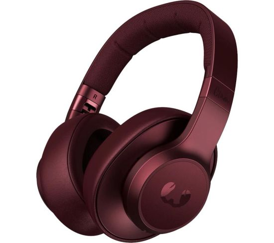 FRESHNREBE Clam ANC Wireless Bluetooth Noise-Cancelling Headphones - Red, Red