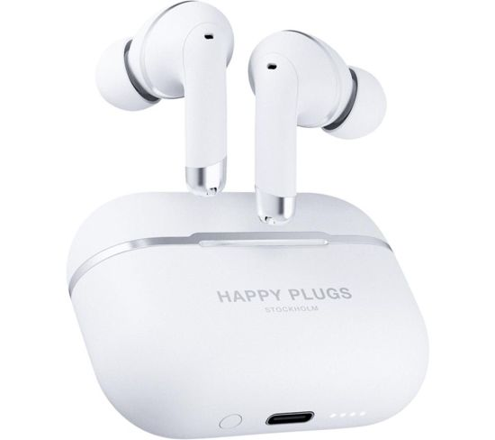 HAPPY PLUGS Air 1 Wireless Bluetooth Noise-Cancelling Earphones - White, White