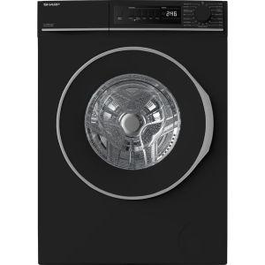 SHARP ES-NFB8141BD 8 kg 1330 Spin Washing Machine - Black, Black