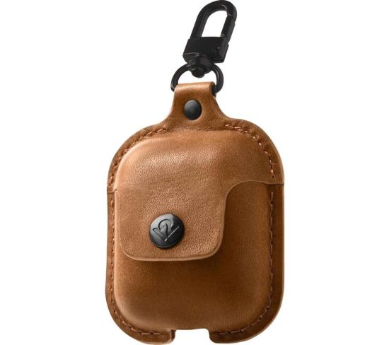 TWELVE SOUTH AirSnap AirPod Leather Case Cover - Brown, Brown
