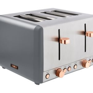 TOWER Cavaletto T20051RGG 4-Slice Toaster - Grey & Rose Gold, Grey