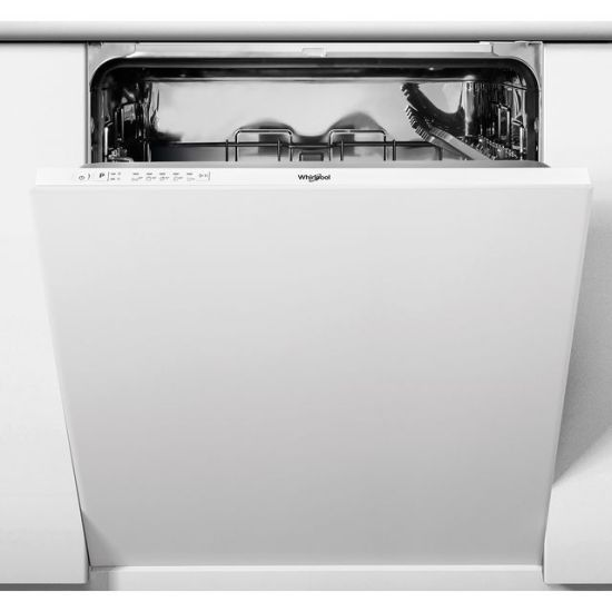Whirlpool WIE2B19NUK Fully Integrated Standard Dishwasher - White Control Panel with Fixed Door Fixing Kit - A+ Rated