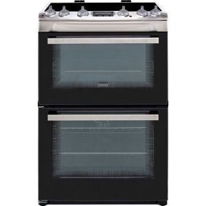 Zanussi ZCV66250XA 60cm Electric Cooker with Ceramic Hob - Stainless Steel - A/A Rated