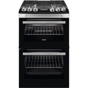 Zanussi ZCG43250XA 55cm Gas Cooker with Full Width Electric Grill - Stainless Steel - A/A Rated