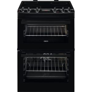 Zanussi ZCV66250BA 60cm Electric Cooker with Ceramic Hob - Black - A/A Rated