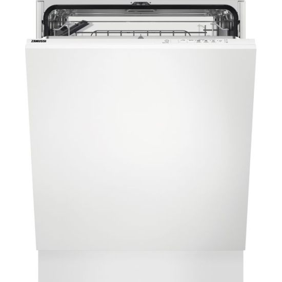 Zanussi ZDLN1512 Fully Integrated Standard Dishwasher - Black Control Panel with Sliding Door Fixing Kit - A+ Rated