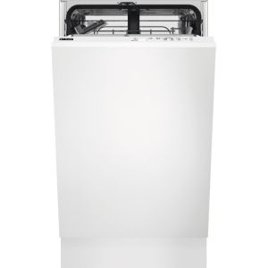 Zanussi ZSLN1211 Fully Integrated Slimline Dishwasher - Black Control Panel with Sliding Door Fixing Kit - A+ Rated