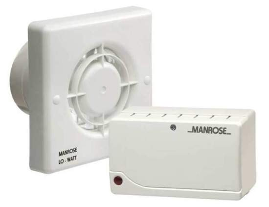 """Manrose Safety Extra Low Voltage (SELV) Fan with Transformer & Humidity Timer - SELVLW100H Manrose Extractor Fans Manrose Safety Extra Low Voltage (SELV) Fan with Transformer & Humidity Timer - SELVLW100H Shop The Very Best Air Con Deals Online at <a href=""""http://Appliance-Deals.com"""">Appliance-Deals.com</a>"""