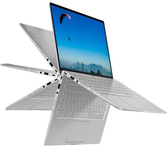 """ASUS Flip C434 14"""" 2 in 1 Chromebook - Intel®Core™ i5, 128 GB eMMc, Silver, Silver Currys laptops, Currys Laptop Sale, Asus Laptops ASUS Flip C434 14"""" 2 in 1 Chromebook - Intel®Core™ i5, 128 GB eMMc, Silver, Silver Shop The Very Best Laptop Deals Online at <a href=""""http://Appliance-Deals.com"""">Appliance-Deals.com</a> <a href=""""https://www.awin1.com/cread.php?awinmid=1599&awinaffid=792795&ued=https%3A%2F%2Fwww.currys.co.uk%2Fgbuk%2Fcomputing-33-u.html""""><img class="""" wp-image-9780000159235 aligncenter"""" src=""""https://appliance-deals.com/wp-content/uploads/2021/03/curryspcworld_500x500_thumb.png"""" alt=""""Appliance Deals"""" width=""""112"""" height=""""112"""" /></a>"""