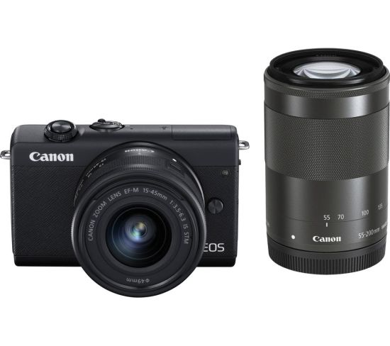 """CANON EOS M200 Mirrorless Camera with EF-M 15-45 mm f/3.5-6.3 IS STM & 55-200 mm f/4.5-6.3 IS STM Lens Currys Cameras CANON EOS M200 Mirrorless Camera with EF-M 15-45 mm f/3.5-6.3 IS STM & 55-200 mm f/4.5-6.3 IS STM Lens Shop The Very Best Deals Online at <a href=""""http://Appliance-Deals.com"""">Appliance-Deals.com</a> <a href=""""https://www.awin1.com/cread.php?awinmid=19526&awinaffid=792795&ued=https%3A%2F%2Fao.com""""><img class="""" wp-image-9780000159235 aligncenter"""" src=""""https://appliance-deals.com/wp-content/uploads/2021/02/ao-new.jpg"""" alt=""""Appliance Deals"""" width=""""112"""" height=""""112"""" /></a> <a href=""""https://www.awin1.com/cread.php?awinmid=19526&awinaffid=792795&ued=https%3A%2F%2Fao.com""""><img class="""" wp-image-9780000159235 aligncenter"""" src=""""https://appliance-deals.com/wp-content/uploads/2021/03/curryspcworld_500x500_thumb.png"""" alt=""""Appliance Deals"""" width=""""112"""" height=""""112"""" /></a>"""