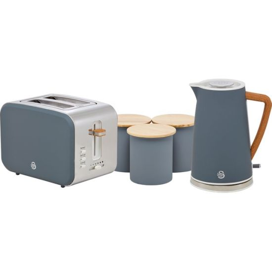 """Swan Nordic STRP3025GRYN Kettle And Toaster Set - Grey AO Kettle And Toaster Set Swan Nordic STRP3025GRYN Kettle And Toaster Set - Grey Shop The Very Best Small Appliance Deals Online at <a href=""""http://Appliance-Deals.com"""">Appliance-Deals.com</a> <a href=""""https://www.awin1.com/cread.php?awinmid=19526&awinaffid=792795&ued=https://ao.com""""><img class="""" wp-image-9780000159235 aligncenter"""" src=""""https://appliance-deals.com/wp-content/uploads/2021/02/ao-new.jpg"""" alt="""" Small Appliance Deals"""" width=""""112"""" height=""""112"""" /></a>"""