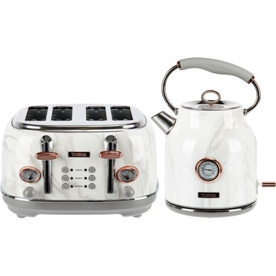 """Tower AOBUNDLE002 Kettle And Toaster Set - Stainless Steel White Marble Rose Gold AO Kettle And Toaster Set Tower AOBUNDLE002 Kettle And Toaster Set - Stainless Steel White Marble Rose Gold Shop The Very Best Small Appliance Deals Online at <a href=""""http://Appliance-Deals.com"""">Appliance-Deals.com</a> <a href=""""https://www.awin1.com/cread.php?awinmid=19526&awinaffid=792795&ued=https://ao.com""""><img class="""" wp-image-9780000159235 aligncenter"""" src=""""https://appliance-deals.com/wp-content/uploads/2021/02/ao-new.jpg"""" alt="""" Small Appliance Deals"""" width=""""112"""" height=""""112"""" /></a>"""