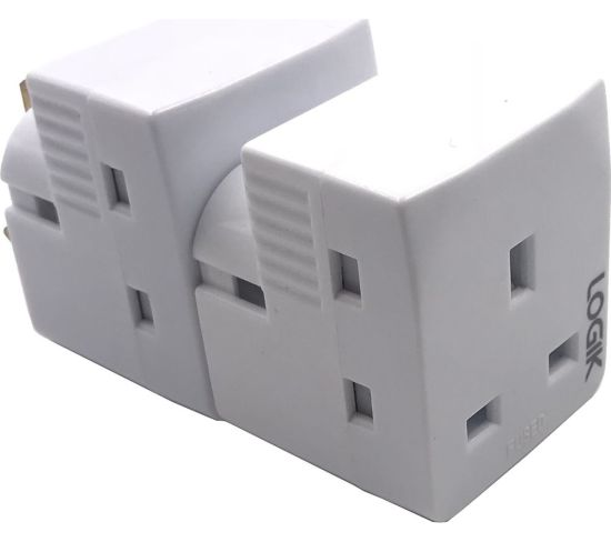 """LOGIK L3WAYP18 3-Socket Plug Adapter - Twin Pack Appliance Deals LOGIK L3WAYP18 3-Socket Plug Adapter - Twin Pack Shop & Save Today With The Best Appliance Deals Online at <a href=""""http://Appliance-Deals.com"""">Appliance-Deals.com</a>"""