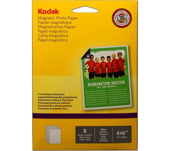 """KODAK 4 x 6"""" Magnetic Photo Paper - 5 Sheets Appliance Deals KODAK 4 x 6"""" Magnetic Photo Paper - 5 Sheets Shop & Save Today With The Best Appliance Deals Online at <a href=""""http://Appliance-Deals.com"""">Appliance-Deals.com</a>"""