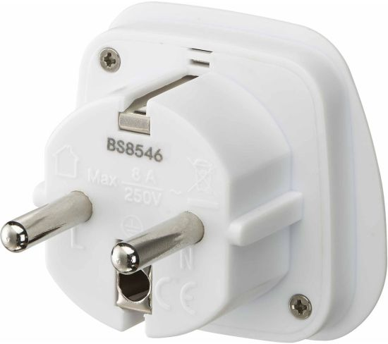 """LOGIK LUKEU20 UK to EU Travel Plug Adapter - Pack of 2 Appliance Deals LOGIK LUKEU20 UK to EU Travel Plug Adapter - Pack of 2 Shop & Save Today With The Best Appliance Deals Online at <a href=""""http://Appliance-Deals.com"""">Appliance-Deals.com</a>"""