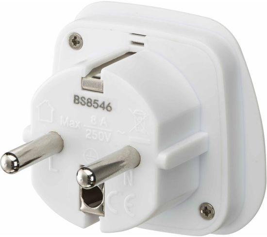 """LOGIK LUKEU20 UK to EU Travel Plug Adapter Appliance Deals LOGIK LUKEU20 UK to EU Travel Plug Adapter Shop & Save Today With The Best Appliance Deals Online at <a href=""""http://Appliance-Deals.com"""">Appliance-Deals.com</a>"""