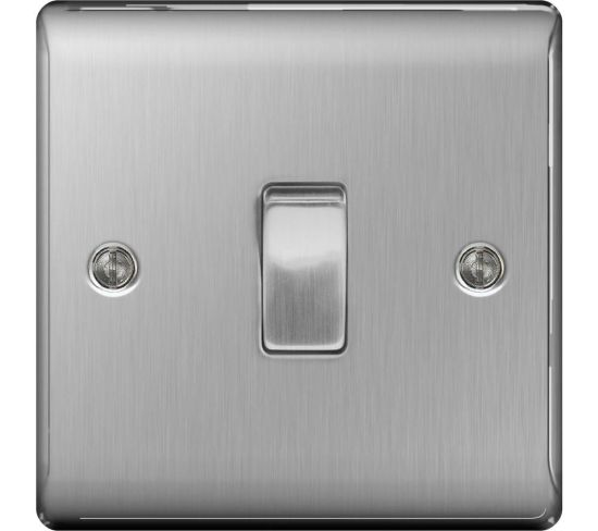 """BG ELECTRICAL Decorative NBS12-01 Push-Button Switch - Silver, Silver Appliance Deals BG ELECTRICAL Decorative NBS12-01 Push-Button Switch - Silver, Silver Shop & Save Today With The Best Appliance Deals Online at <a href=""""http://Appliance-Deals.com"""">Appliance-Deals.com</a>"""