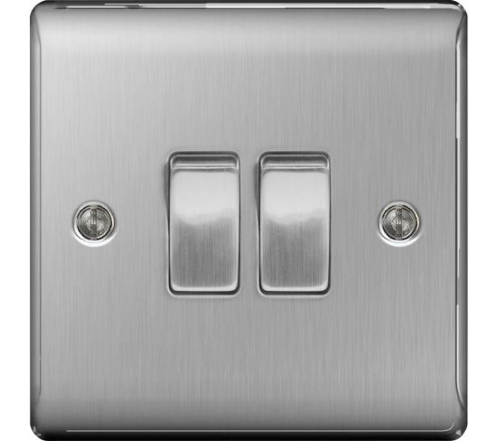"""BG ELECTRICAL Decorative NBS42-01 Push-button Switch - Brushed Steel, Brushed Steel Appliance Deals BG ELECTRICAL Decorative NBS42-01 Push-button Switch - Brushed Steel, Brushed Steel Shop & Save Today With The Best Appliance Deals Online at <a href=""""http://Appliance-Deals.com"""">Appliance-Deals.com</a>"""