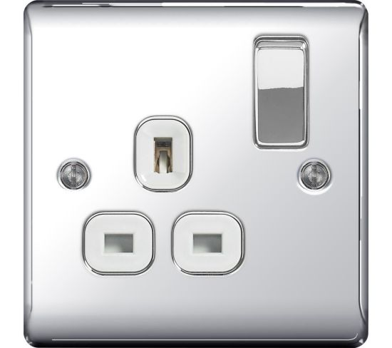 """BG ELECTRICAL Decorative NPC21W-01 Switched Power Socket - Silver, Silver Appliance Deals BG ELECTRICAL Decorative NPC21W-01 Switched Power Socket - Silver, Silver Shop & Save Today With The Best Appliance Deals Online at <a href=""""http://Appliance-Deals.com"""">Appliance-Deals.com</a>"""