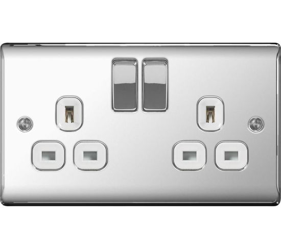 """BG ELECTRICAL Decorative NPC22W-01 Switched Power Socket - Silver, Silver Appliance Deals BG ELECTRICAL Decorative NPC22W-01 Switched Power Socket - Silver, Silver Shop & Save Today With The Best Appliance Deals Online at <a href=""""http://Appliance-Deals.com"""">Appliance-Deals.com</a>"""