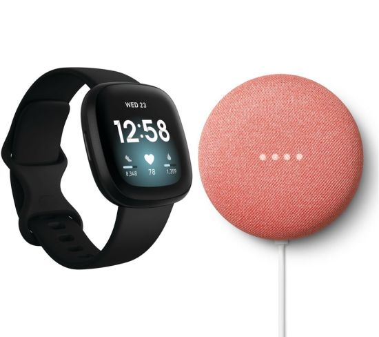 """FITBIT Versa 3 & Nest Mini (2nd Gen) Bundle - Black & Coral, Black FITBIT Versa 3 & Nest Mini (2nd Gen) Bundle - Black & Coral, Black Shop The Very Best FitBit Sale Deals Online at <a href=""""http://Appliance-Deals.com"""">Appliance-Deals.com</a> <a href=""""https://www.awin1.com/cread.php?awinmid=1599&awinaffid=792795&ued=https%3A%2F%2Fcurrys.co.uk""""><img class="""" wp-image-9780000159235 aligncenter"""" src=""""https://appliance-deals.com/wp-content/uploads/2021/03/curryspcworld_500x500_thumb.png"""" alt=""""fitbit Appliance Deals"""" width=""""112"""" height=""""112"""" /></a>"""