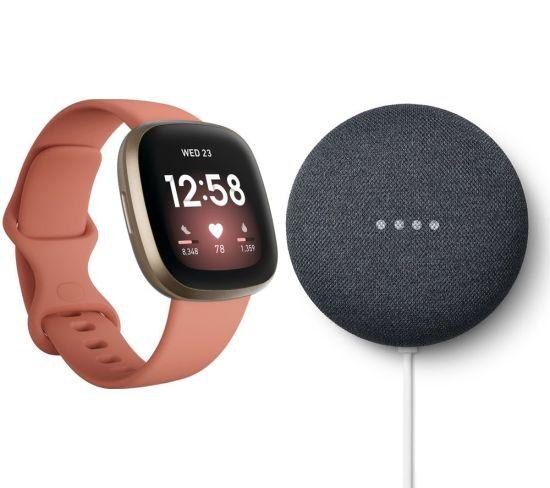 """FITBIT Versa 3 & Nest Mini (2nd Gen) Bundle - Pink Clay & Soft Gold & Charcoal, Pink FITBIT Versa 3 & Nest Mini (2nd Gen) Bundle - Pink Clay & Soft Gold & Charcoal, Pink Shop The Very Best FitBit Sale Deals Online at <a href=""""http://Appliance-Deals.com"""">Appliance-Deals.com</a> <a href=""""https://www.awin1.com/cread.php?awinmid=1599&awinaffid=792795&ued=https%3A%2F%2Fcurrys.co.uk""""><img class="""" wp-image-9780000159235 aligncenter"""" src=""""https://appliance-deals.com/wp-content/uploads/2021/03/curryspcworld_500x500_thumb.png"""" alt=""""fitbit Appliance Deals"""" width=""""112"""" height=""""112"""" /></a>"""