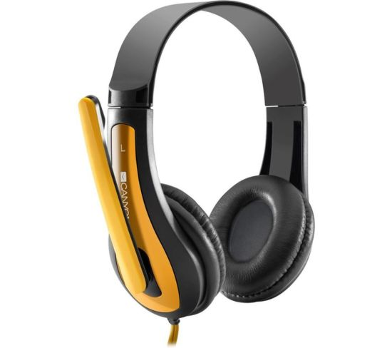 """CANYON CNS-CHSC1BY Headset - Black & Yellow, Black Appliance Deals CANYON CNS-CHSC1BY Headset - Black & Yellow, Black Shop & Save Today With The Best Appliance Deals Online at <a href=""""http://Appliance-Deals.com"""">Appliance-Deals.com</a>"""