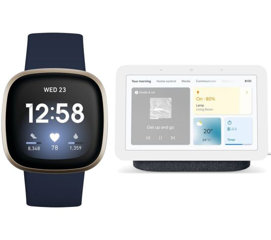 """FITBIT Versa 3 & Google Nest Hub (2nd Gen) Smart Display Bundle - Midnight & Charcoal, Charcoal FITBIT Versa 3 & Google Nest Hub (2nd Gen) Smart Display Bundle - Midnight & Charcoal, Charcoal Shop The Very Best FitBit Sale Deals Online at <a href=""""http://Appliance-Deals.com"""">Appliance-Deals.com</a> <a href=""""https://www.awin1.com/cread.php?awinmid=1599&awinaffid=792795&ued=https%3A%2F%2Fcurrys.co.uk""""><img class="""" wp-image-9780000159235 aligncenter"""" src=""""https://appliance-deals.com/wp-content/uploads/2021/03/curryspcworld_500x500_thumb.png"""" alt=""""fitbit Appliance Deals"""" width=""""112"""" height=""""112"""" /></a>"""