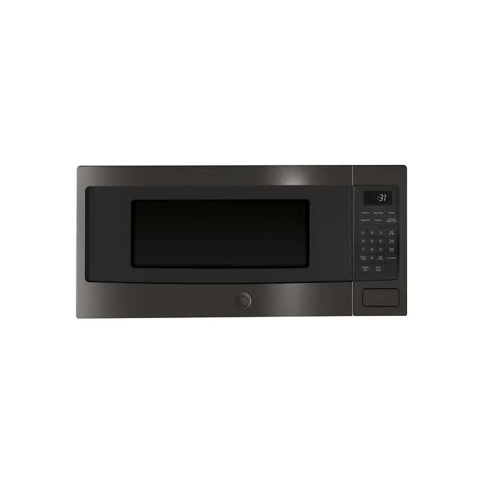 ge profile series 1 1 cu ft countertop microwave oven pem31bmts