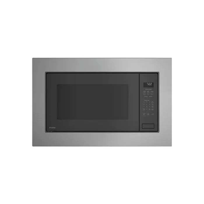 ge profile series 2 2 cu ft built in sensor microwave oven peb7227slss