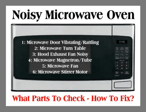 how to fix noisy microwave oven what