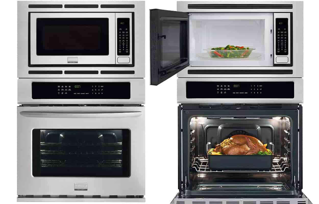 wall oven with microwave above