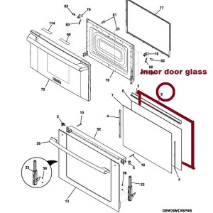 5304505655 Inner Oven Door Glass Kit was 139010402