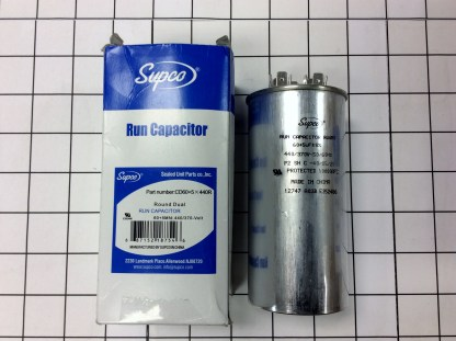 Supco part number CD60+5X440R 440V ROUND DUAL
