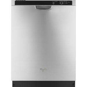 Whirlpool Front Control Dishwasher in Monochromatic Stainless Steel with Anyware Plus Silverware Basket - WDF520PADM