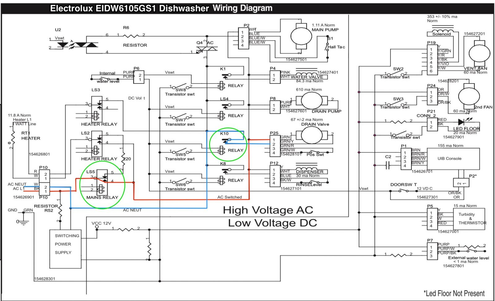 Electrolux Eidw Gs1 Dishwasher Wiring Diagram