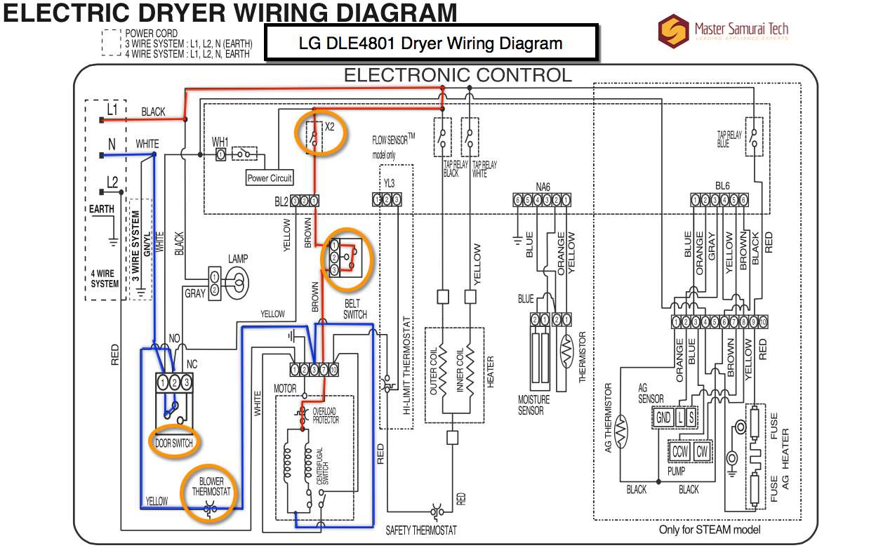 lg dle4801 dryer wiring diagram the