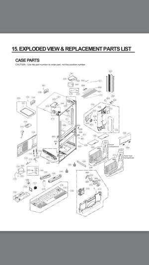 LG Refrigerator LMXS30776S00 PARTS LIST  Appliance