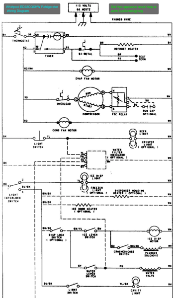 Lg No Frost Refrigerator Wiring Diagram Electrical Wiring Diagrams