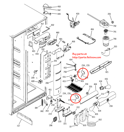 Ge Profile And Arctica Refrigerator Thermistor Locations Beer Compartment