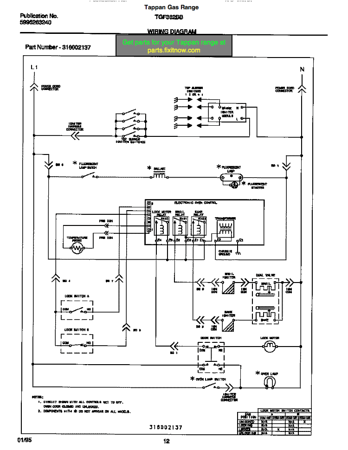 tappan electric stove wiring diagram  schematic wiring